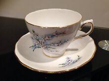 """Royal Osborne """"White Blossom"""" cup and saucer Ascot 3551 Bendigo City Preview"""