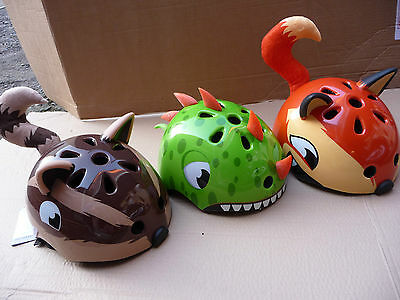 Bicycle Helmet Childs Bike Dinosaur Fox Chipmunk Bear Cycle Scooter Skateboard