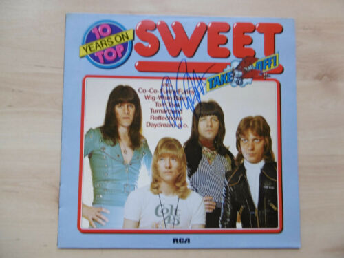 """Andy Scott Autogramm signed LP-Cover """"The Sweet"""" Vinyl"""