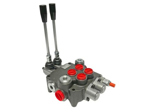 2 Spool Hydraulic Control Valve Double Acting 21 GPM 3600 PSI SAE Ports NEW!