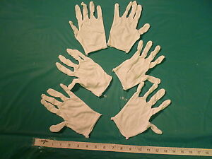 3-PAIRS-OF-LIGHTWEIGHT-WHITE-COTTON-GLOVES-MENS-SIZE-FREE-U-S-SHIPPING