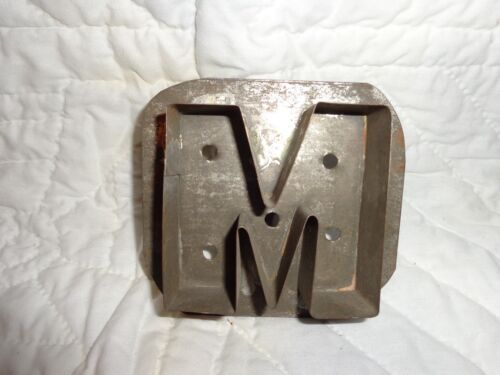 """Scarce Antique Primitive Tin Letter """"M"""" Form Cookie Cutter"""