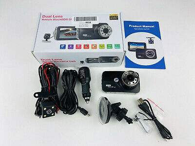 Dash Cam Dual Lens Vehicle BlackBox DVR 1080P With Backup Camera