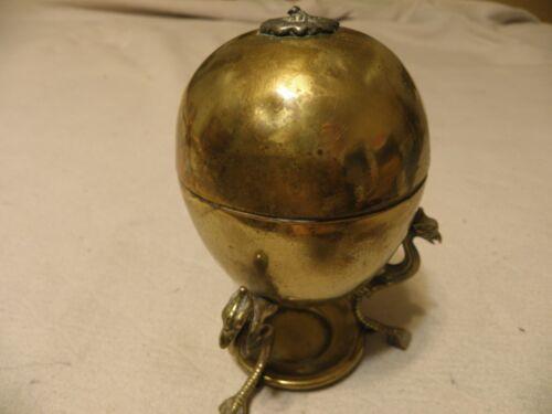 Antique or vintage brass egg coddler