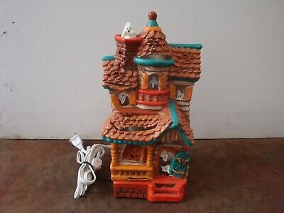 Spooky Halloween Lighted Plaster Casting House