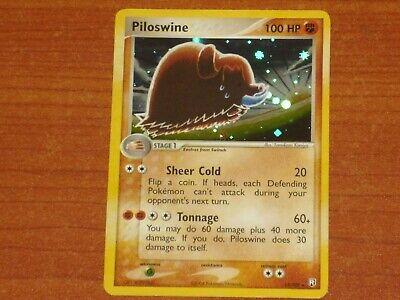 Pokemon Card: PILOSWINE #13/109 HP100 EX-Team Rocket Returns Rare Holofoil 2004