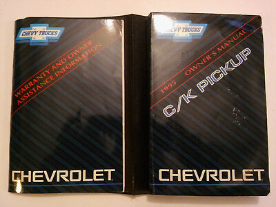 1995 Chevorlet Chevy C/K pickup GMC  Owners Manual