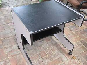 Modern Office Desk - Has Rollers And Shelf (Black Top) Brunswick East Moreland Area Preview