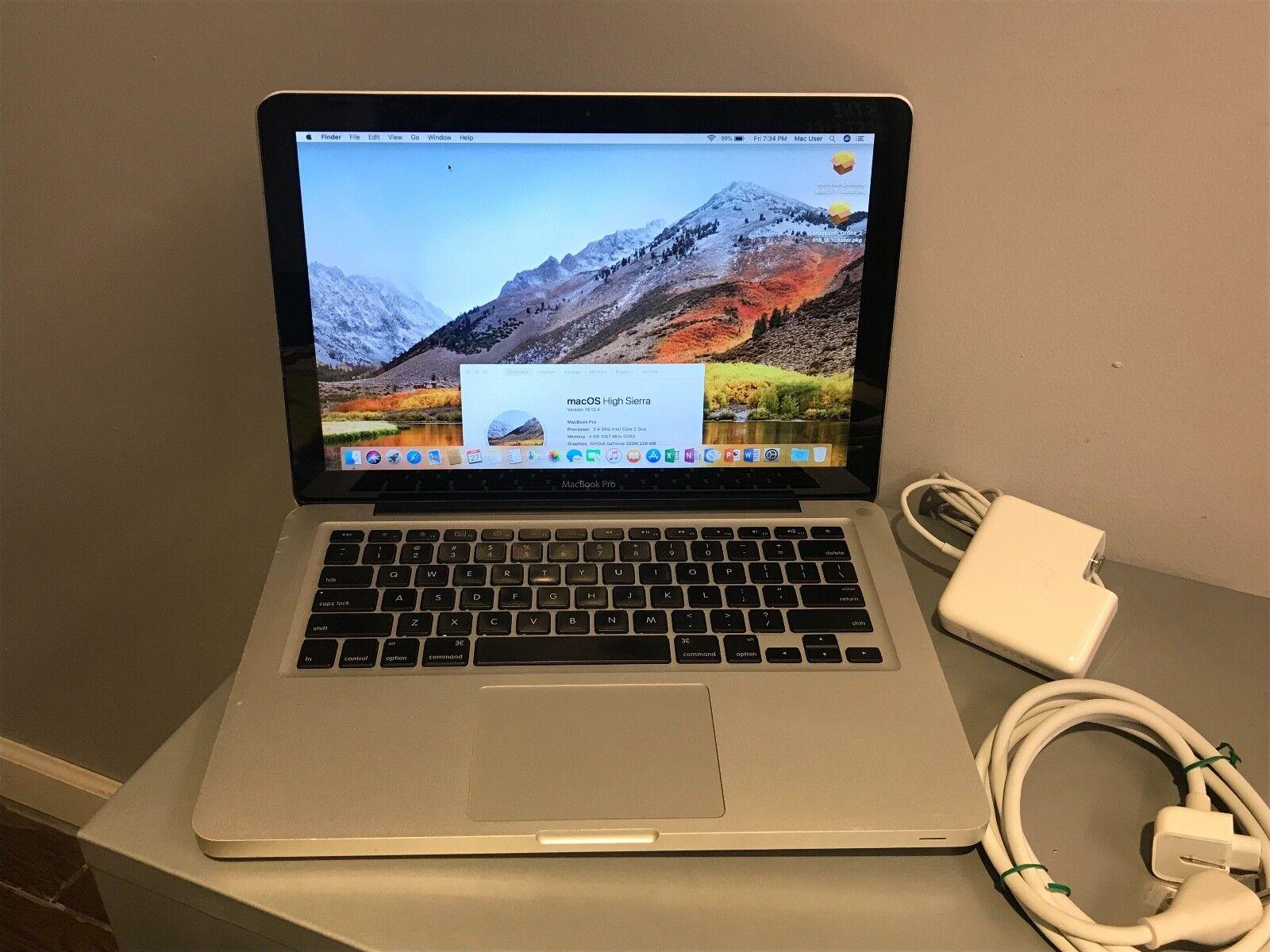 """Apple MacBook Pro13"""" Silver A1278-New 500GB HDD/4GB Ram OS HIGH SIERRA/Office 16"""