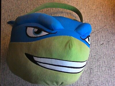 Leonardo TMNT Teenage Mutant Ninja Turtle Halloween Easter Plush Basket Bucket L