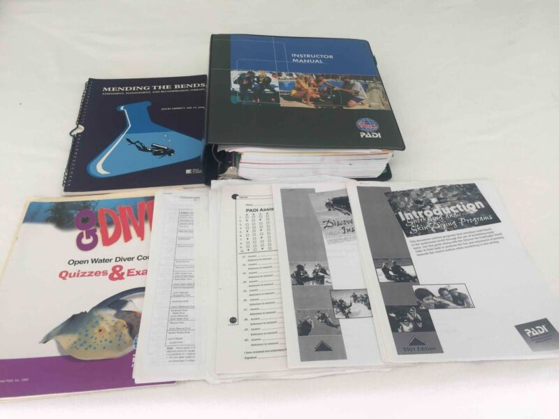 PADI Instructor Manual Professional Assoc of Diving Instructors Plus EXTRAS Used