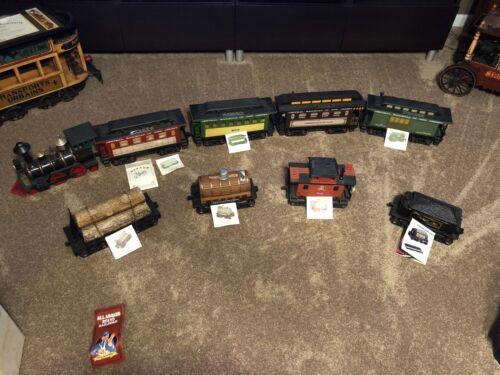 Jim Beam Decanter Train set, Vintage 9 Piece Set with Boxes