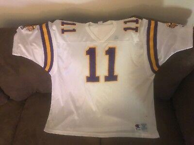 Daunte Culpepper Minnesota Viking Champion XXL 52 Jersey White Used NFL - Minnesota Viking Football