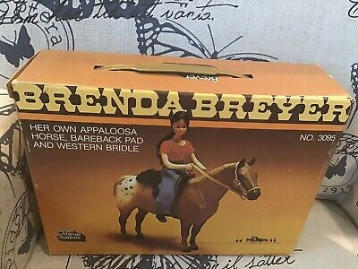 Vintage Brenda Breyer No 3095 With Appaloosa Horse,Pad And Bridle NRFB
