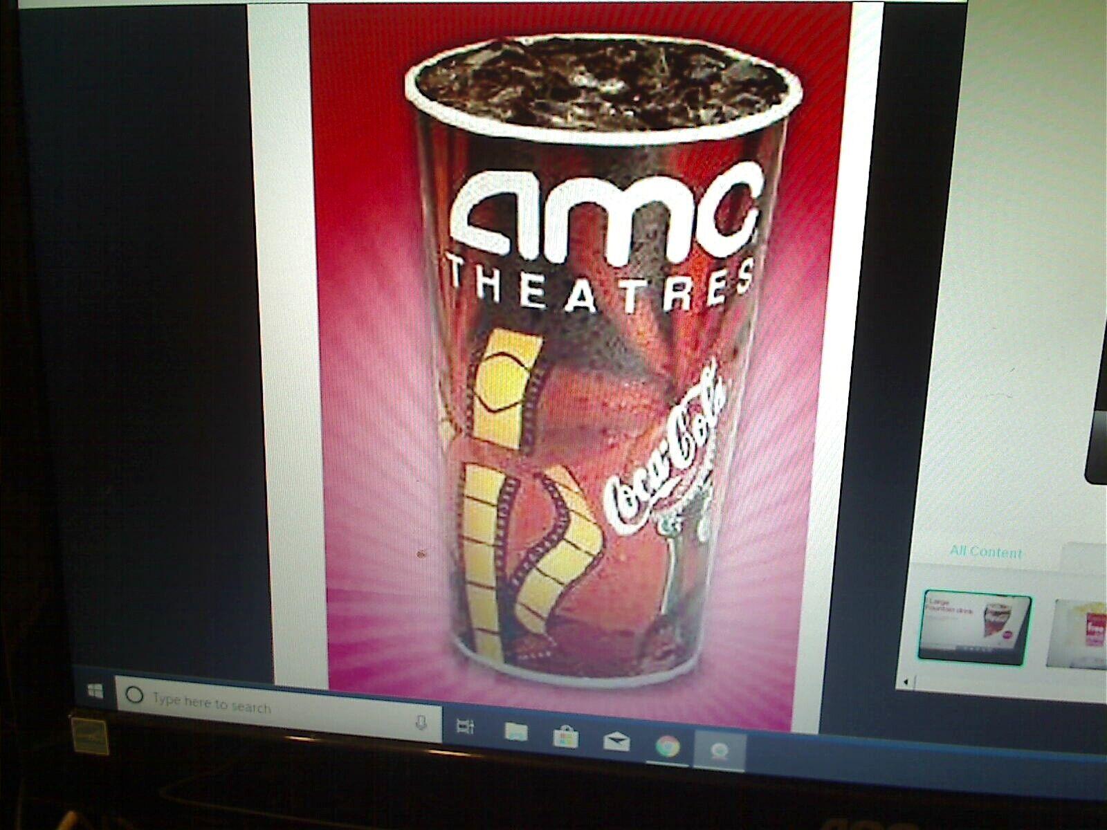 Купить AMC Theatres 1 Large Fountain Drink Theater Coke  Expires 12/31/2020  E-Delivery