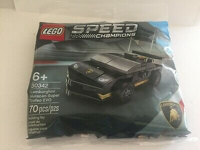 New Official Black Lamborghini Car Lego Mini Set Polybag