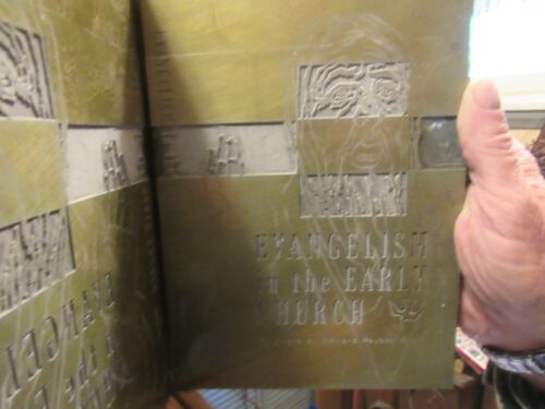 """Vintage Letterpress Printing Block Book Cover Printing Plate Religious 8"""" x 7"""""""