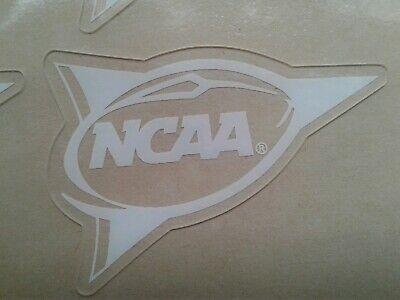 White NCAA pennant banner football helmet decal