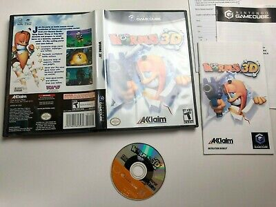 Worms 3D for Nintendo Gamecube Game Complete in Case