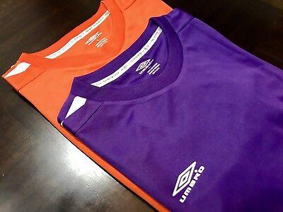 f8bc861d8af04 Umbro Men Jersey Set Of Two Size L Short Sleeve Shirt Crew Neck Tee
