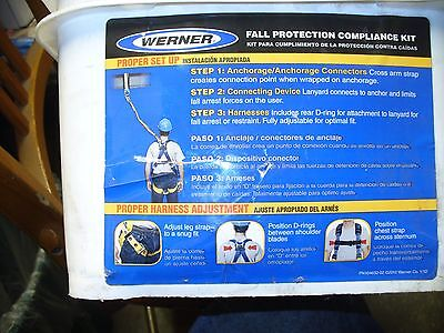 New Werner K121001 Fall Protection Safety Harness Kit Ml Shop Waz 4 Induatrial