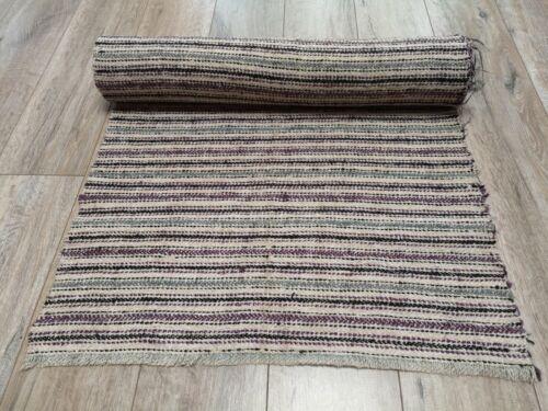 Antique Rug Runner 62x520cm Hemp&Wool 19thC Ukraine Good condition