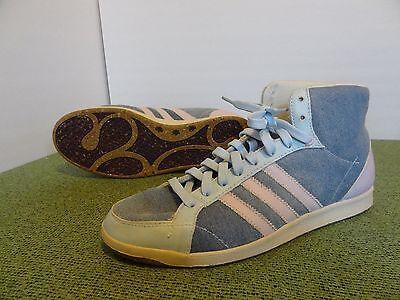 WOW Adidas Grun Reground High Top men 10.5 Denim blue pink Recycled walking shoe