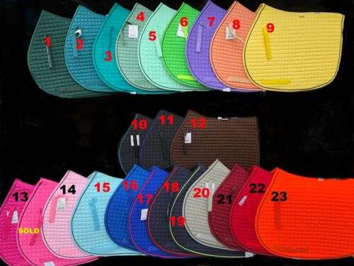 PRI Pacific Rim International All Purpose English Saddle Pad NEW~27 colors