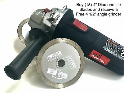4'' Continuous Tile Diamond Saw Blade wet/dry (buy 15 get a free angle grinder)