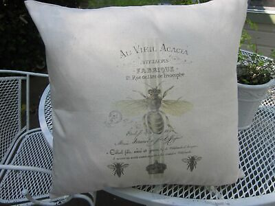 QUEEN Bee French BEE Abeille Decorative Pillow COVER 100% Cotton - French Decorative Pillow