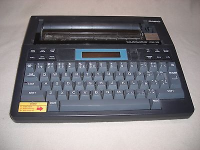 Vintage Casiowriter Personal Electric Typewriter Model Cw-10 - Complete-japan