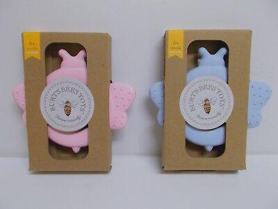 Burt's Bees Toys Beether Teething Ring BPA & Phthalate Free (Pink Or Blue)