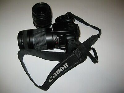 canon eos rebel xti camera with extra lens zoom 75-300 mm (75-300mm) untested