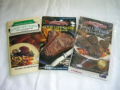Omaha Steaks  Good Life Guide   Cookbooks   Lot Of 3  Vol 23  01 02  03 04