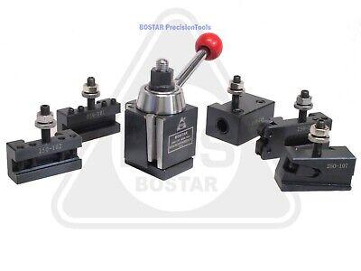 Bostar Axa 250-111 Wedge Type Tool Post Tool Holder Set For Lathe 6-12 6pc