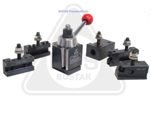 "BOSTAR  AXA 250-111 Wedge Type Tool Post, Tool Holder Set for Lathe 6-12"",  6PC"