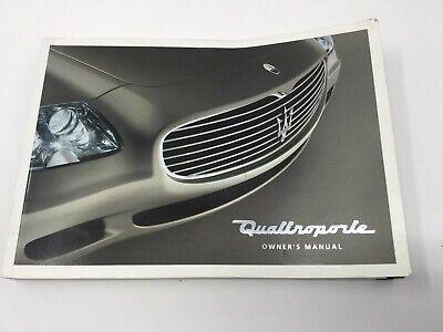 2004 2005 2006 2007 2008 Maserati Quattroporte Owners Manual 3rd Edition