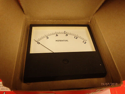 NEW in boxes:  Vintage SIMPSON M-2262 POTENTIAL 0-1.5 Panel Meter Sealed