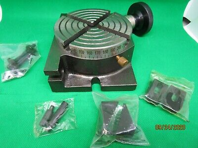 4 Verticlehorizontal Rotary Table With Clamping Kit Grt1004