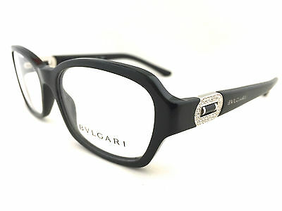 New Authentic BVLGARI 4071B 501 53mm Black Frames Eyeglasses Italy w/Serial# RX