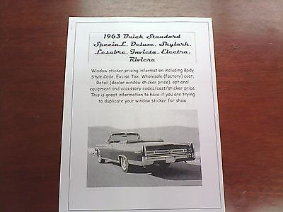 prices for base options 1965 Buick Special factory retail wholesale dealer