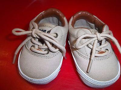 NWT Infant Boy's Size 0 Khaki  Ralph Lauren Shoes