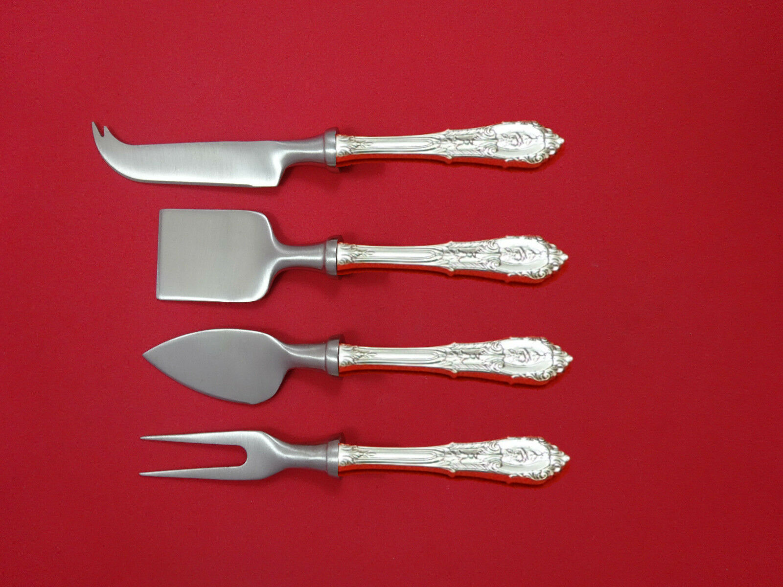 """Rose Point by Wallace Sterling Silver Cheese Server HHWS Custom Made 6/"""""""