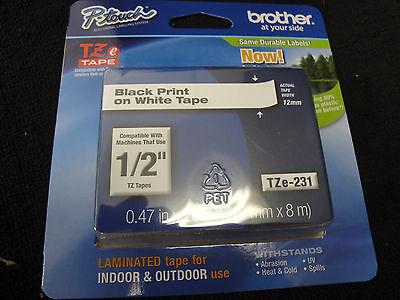 Brother P-Touch TZe-231 BLACK ON WHITE Label Tape TZe231 Ptouch PT-1880 PT OEM, usado segunda mano  Embacar hacia Mexico