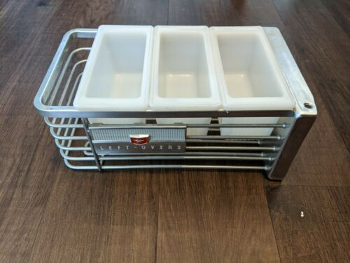 Original Leftover Tray Hotpoint Vintage Refrigerator with 3 glass bins no lids