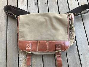 Fossil - Canvas & Leather Messenger Bag Mitchelton Brisbane North West Preview