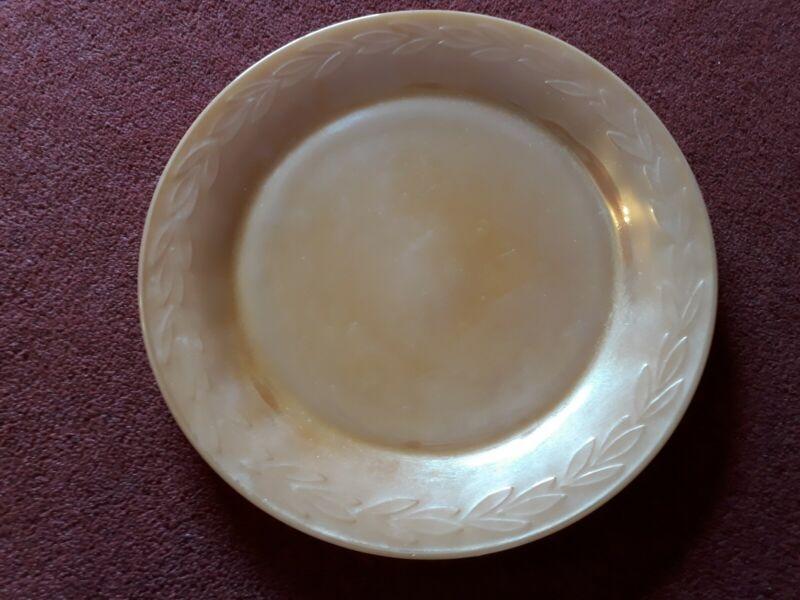 Large Plate  -Fire King Ware -USA- peach lustre 28 cms Diams