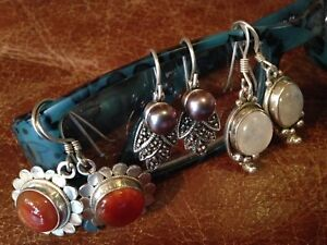 Sterling Chains, Earrings, Ring