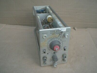 Vintage Tektronix Type 2a63 Differential Amplifier Plug In