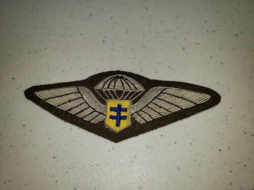 K1038 WW2 France French Army Free French Paratrooper Wing Bullion L3B